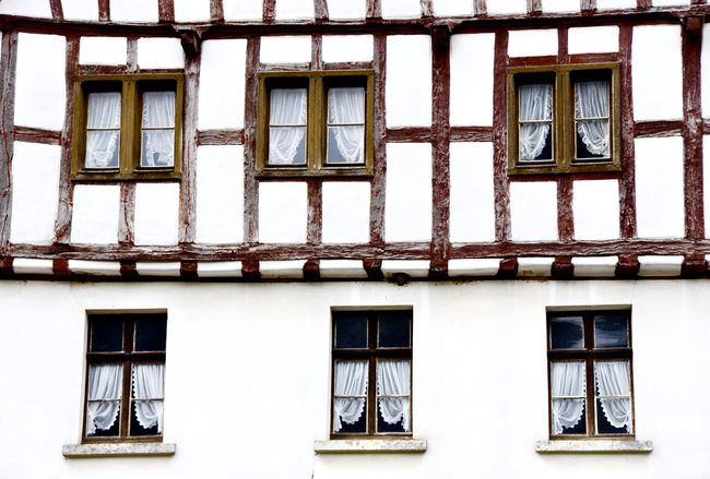Apartment Architecture Building Building Exterior Built Structure Façade Frame House Full Frame Half-timber Half-timbered Half-timbered House House House And Windows House Facade No People Repetition Residential Building Residential Structure Window