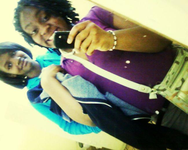 DeeDee (Purple) & I (Blue)