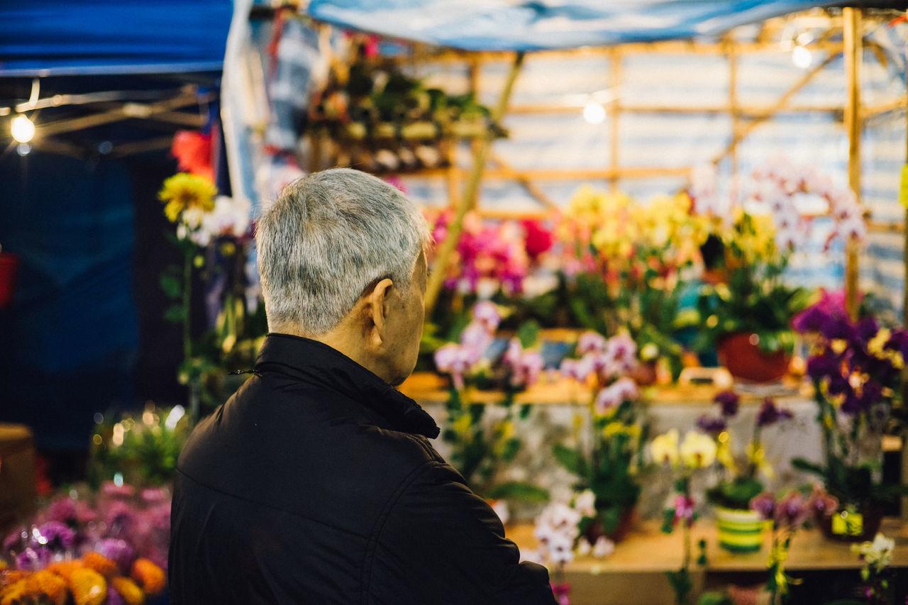 Adult Flower Flowers Market Night Night Photography Nightlife Nightmarket Nightphotography One Person People