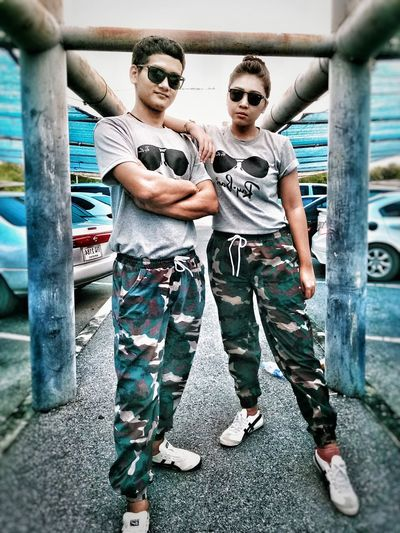 street boy&girl Parking Garage Street Fashion New Fashion Solemate Love Street My Lovers ♡ Fashion Stories Outdoors Casual Clothing Two People Standing Young Adult