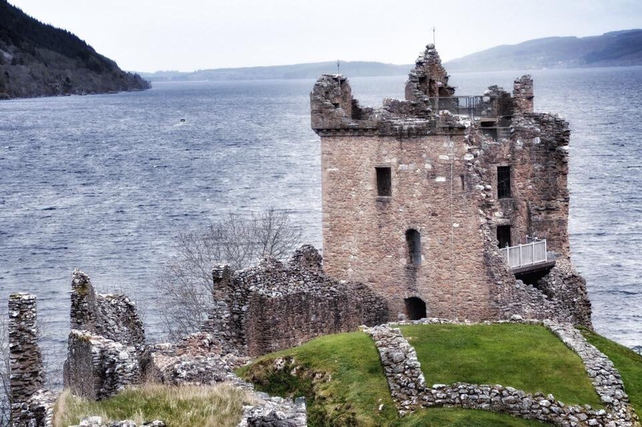 Scotland memories. The amazing Lochness and UrquhartCastle ❤️ Scotland Old Ruin Castle Ancient History Beauty In Nature Nature_collection Beautiful Nature Nikon Landscape_Collection Landscape_photography Sea And Sky Horizon Over Water Seaside Scenics Tranquility Cloud - Sky Nature Water Landscape Naturelovers