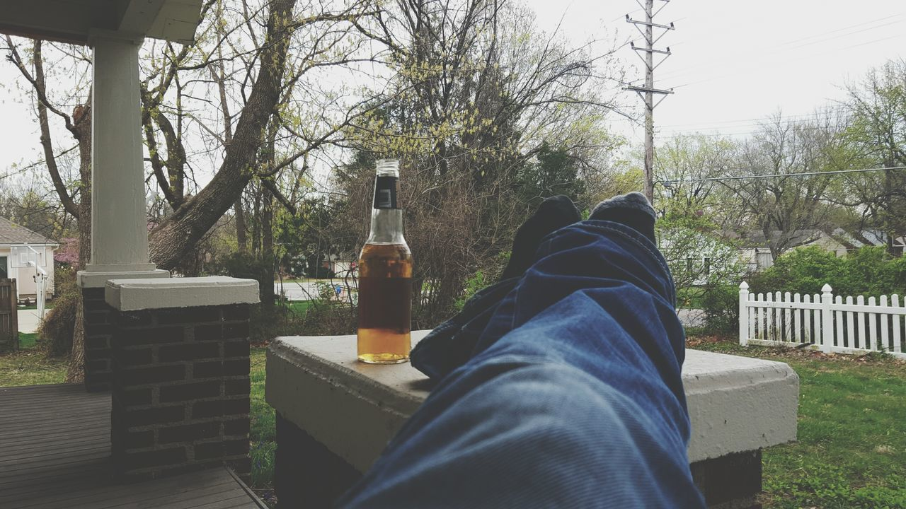 Reds Alcohol Glass Glass Bottle Front Porch Front Porch Sitting Relaxing After Work Grateful Blue Jeans Quiet Moments Peaceful Peaceful Evening Spring Springtime Birds Chirping Loving Life! Apple Ale Kansas Weekend Pre Game Thankful Porch My House
