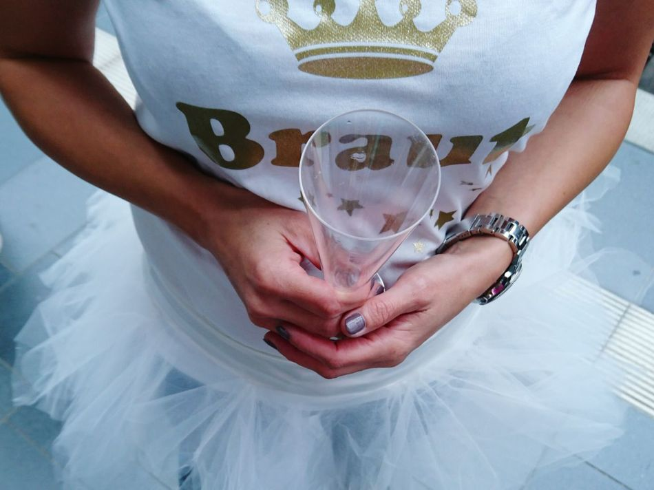 Cheers!!! Brideoftheday Bachelorette Party Tutudress White Shirt Human Hand Human Body Part Party Time Showcase July People Together 43 Golden Moments