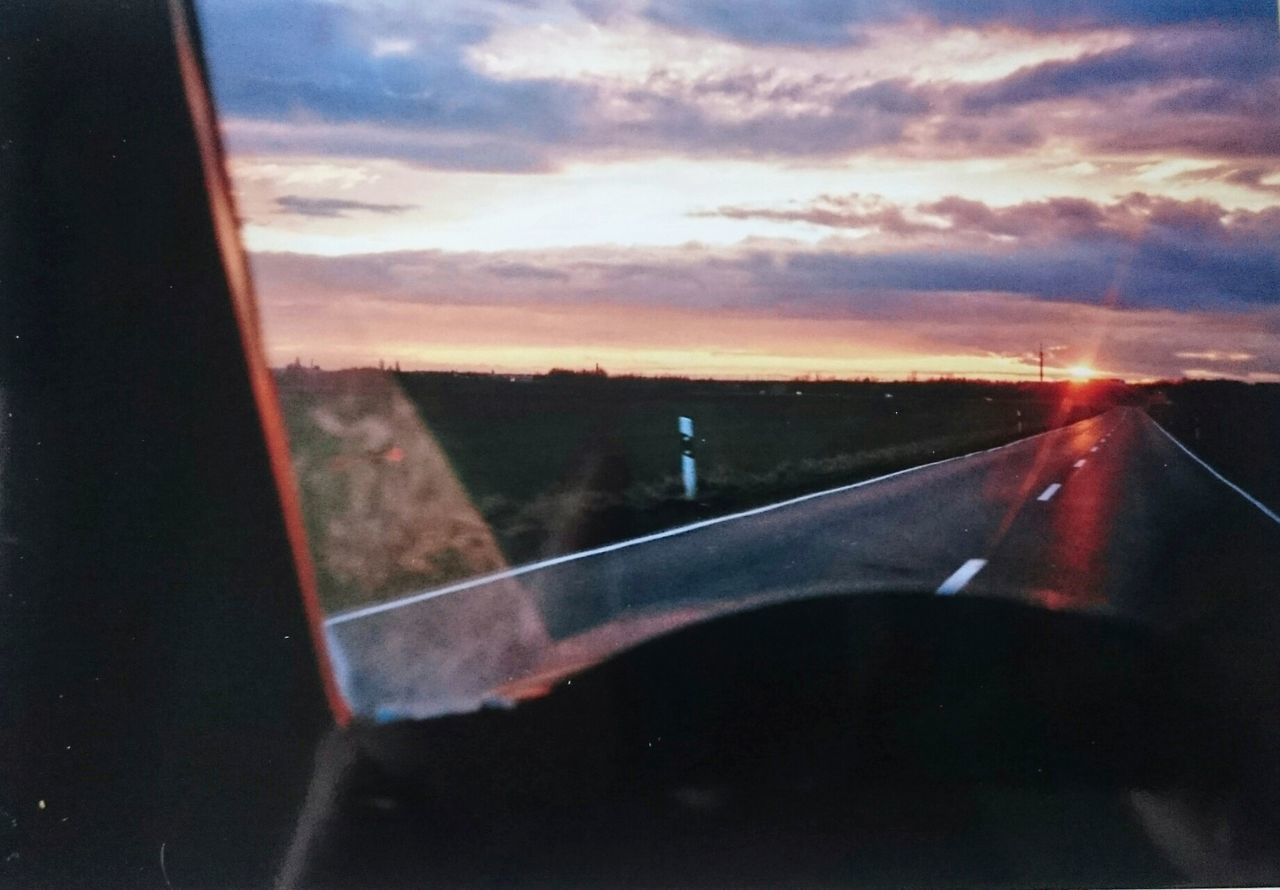 Road Taking Photos Snap Sunset Analog Photography Olympusxa Driving