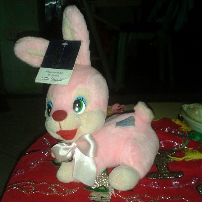 @mimimelody22 yot still remember this? Naukayan ra naku hehe Cute Pink Bunny  BLUEMAGIC Geenie