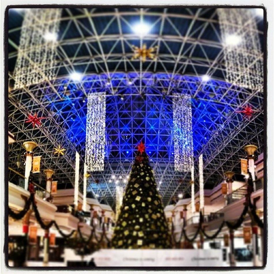 Xmas tree at Wafi mall in Dubai UAE