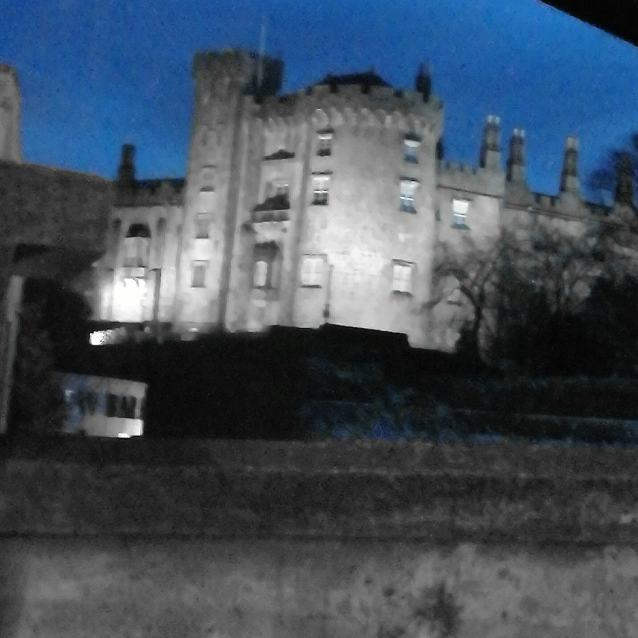Kilkenny Castle, Kilkenny, Ireland Architecture Built Structure Building Exterior Sky Illuminated Outdoors No People Blue Clear Sky Day Nature