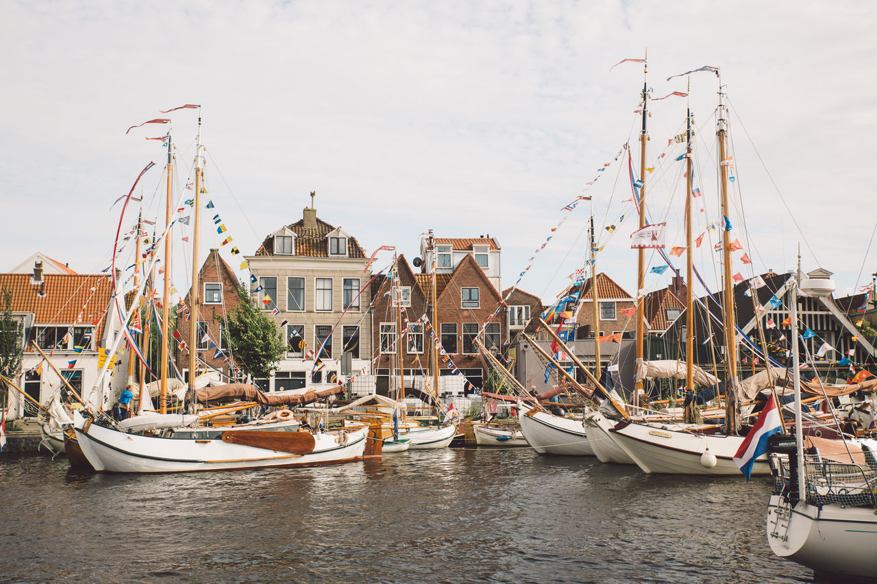 Architecture Haarlem Haarlemse Haarlemse Vaardagen 2017 Architecture Boat Boats Building Exterior Built Structure Canal Cruise Day Dutch Harbor Mast Mode Of Transport Moored Nature Nautical Vessel Outdoors Real People River Ships Sky Spaarne Transportation Vaardagen Water Waterfront