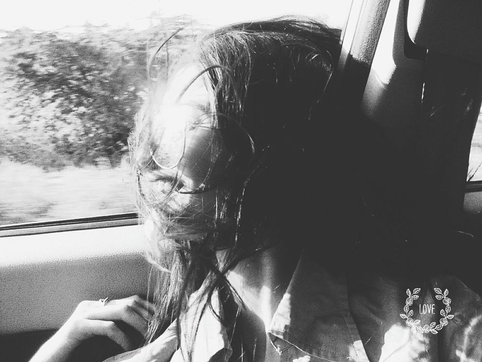 Hair Style Windy Day Black And White Fun Outdoors CarRides Mylife ♡ First Eyeem Photo Women Around The World