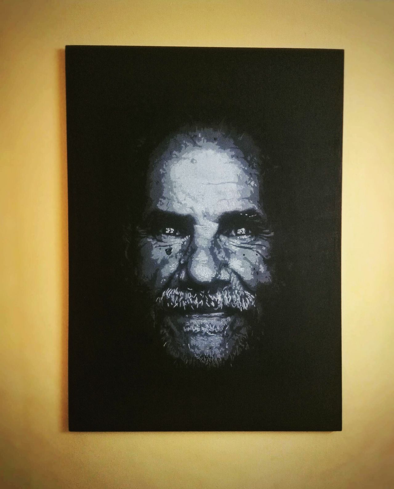 great grand father ❤ Stencil Art Front View Portrait Looking At Camera Close-up Human Body Part Black Background Adult Adults Only Only Men Human Eye One Man Only One Person People Day First Eyeem Photo