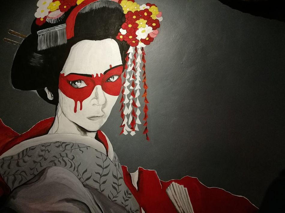 this wall painting though...One Person Indoors  Wall Art Wallpainting Wall Woman Japanese  Japanese Girl Japanese Style Japanese Geisha Geishagirl Geisha Restaurant Art EyeEmNewHere Welcomeweekly