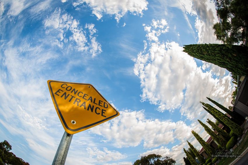 Blue Cloud - Sky Cloudy Road Sign Sign Sky Tree Warning Sign