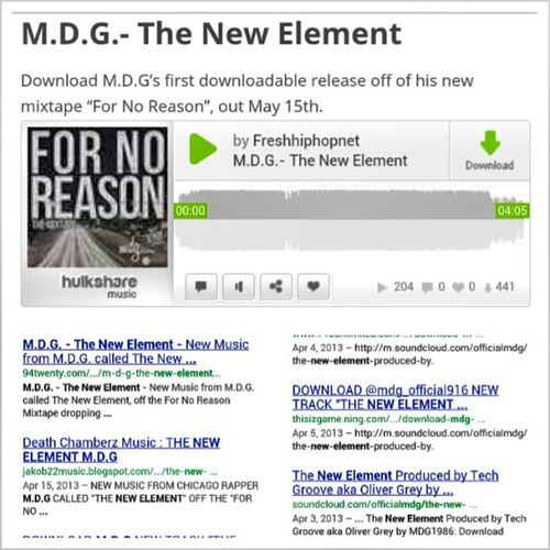 S.o all 441 Fans who Downloaded the New Single TheNewElement off the ForNoReasonTheMixtape drops May 15th