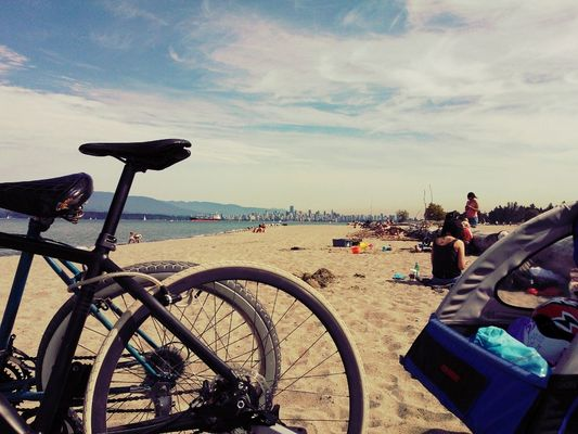 Last days of the summer at Spanish Banks Beach Park by Kharis O'Connell