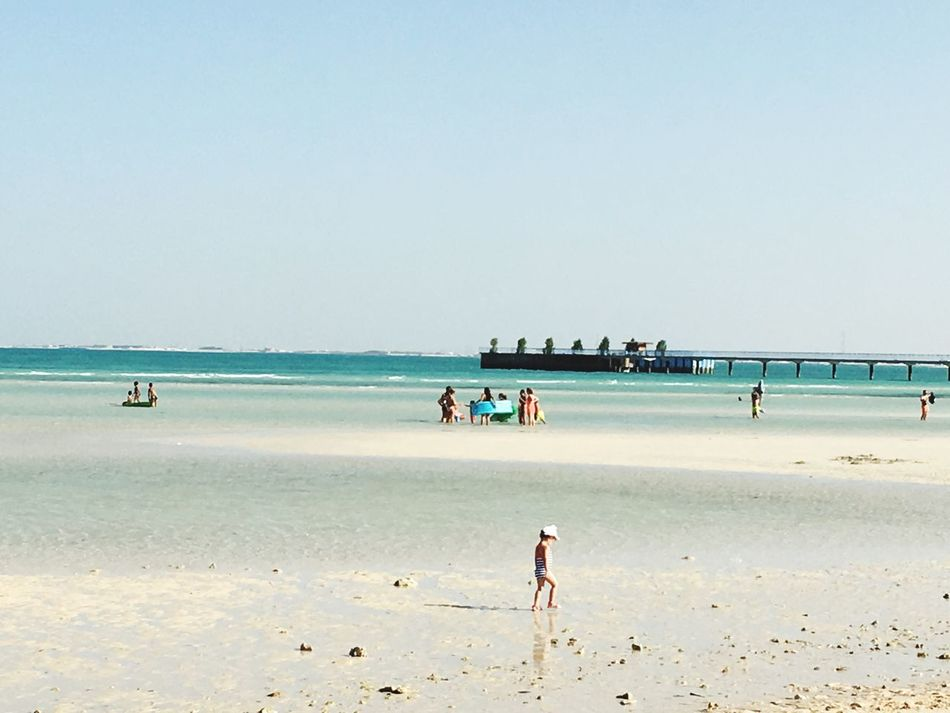 Clear Sky Beach Sea Shore Lifestyles Outdoors Leisure Activity Real People October Middle East