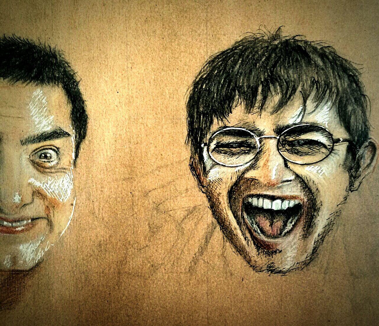 💥 3idiots 💥 Aamirkhan 3idiots First Eyeem Photo Art ArtWork Artgallery Drawing Draw Sketch