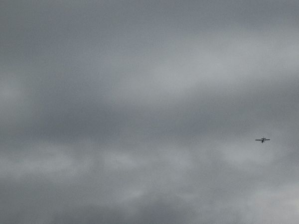 Grey Sky Flying Airplane Mode Of Transport Sky Low Angle View Flight Cloud Airways Tranquil Scene
