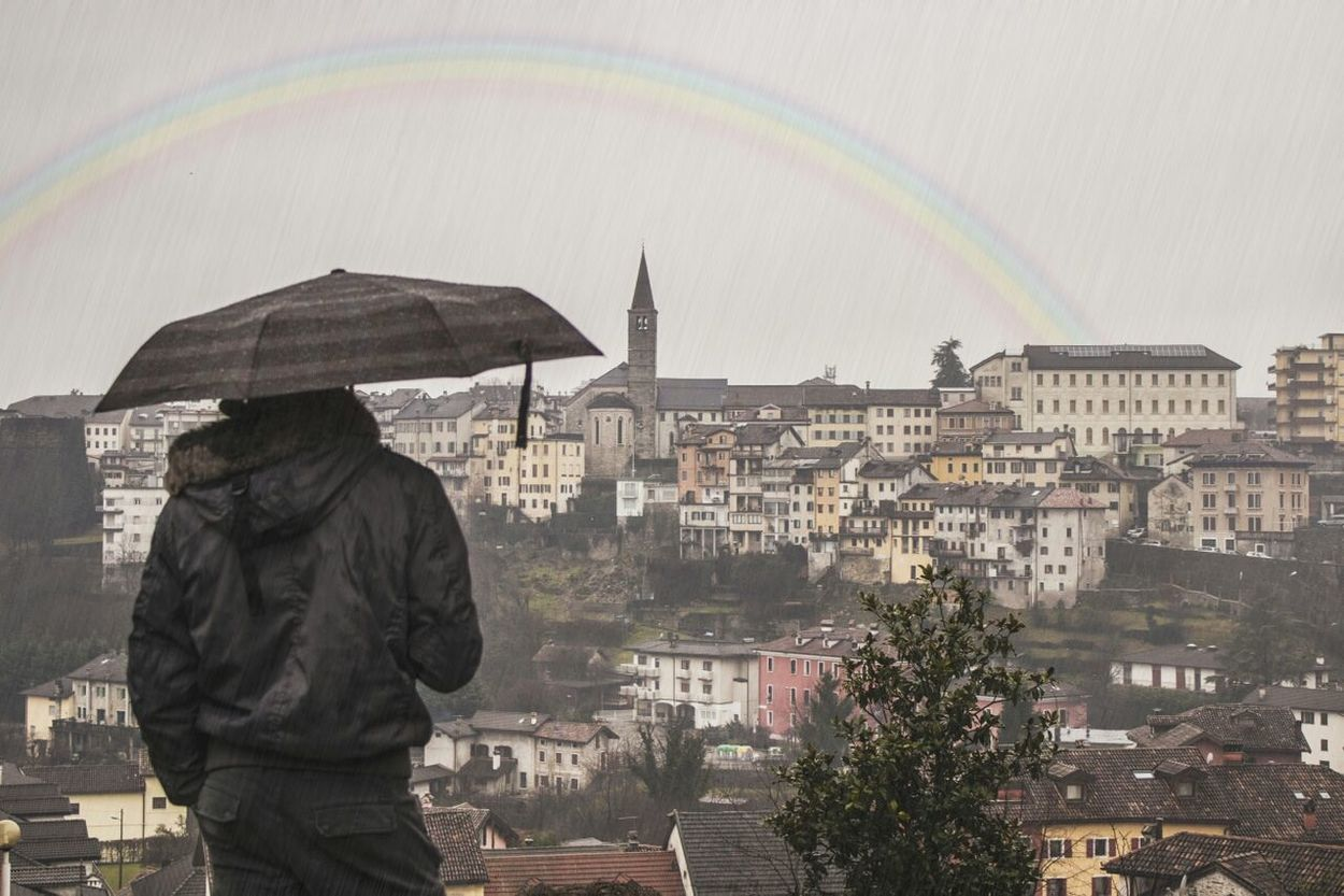 Rain Rainbow Taking Photos Jenuary