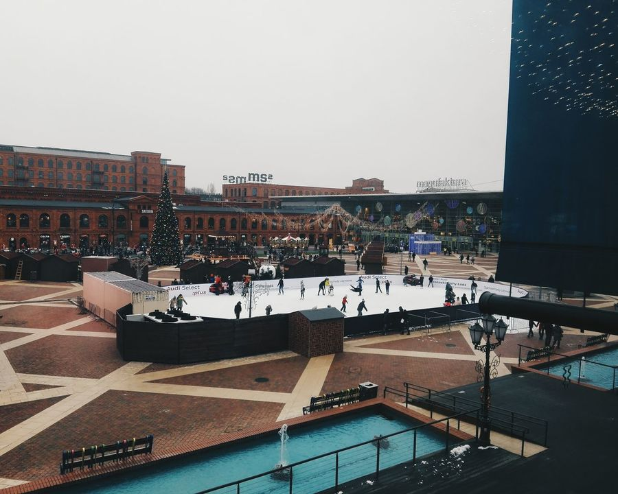 Outdoors Large Group Of People Water Day People Sky Architecture Ice Rink Christmas Tree Christmastime Christmas Lights Christmas Day Cityscape City City View  Vscocam VSCO