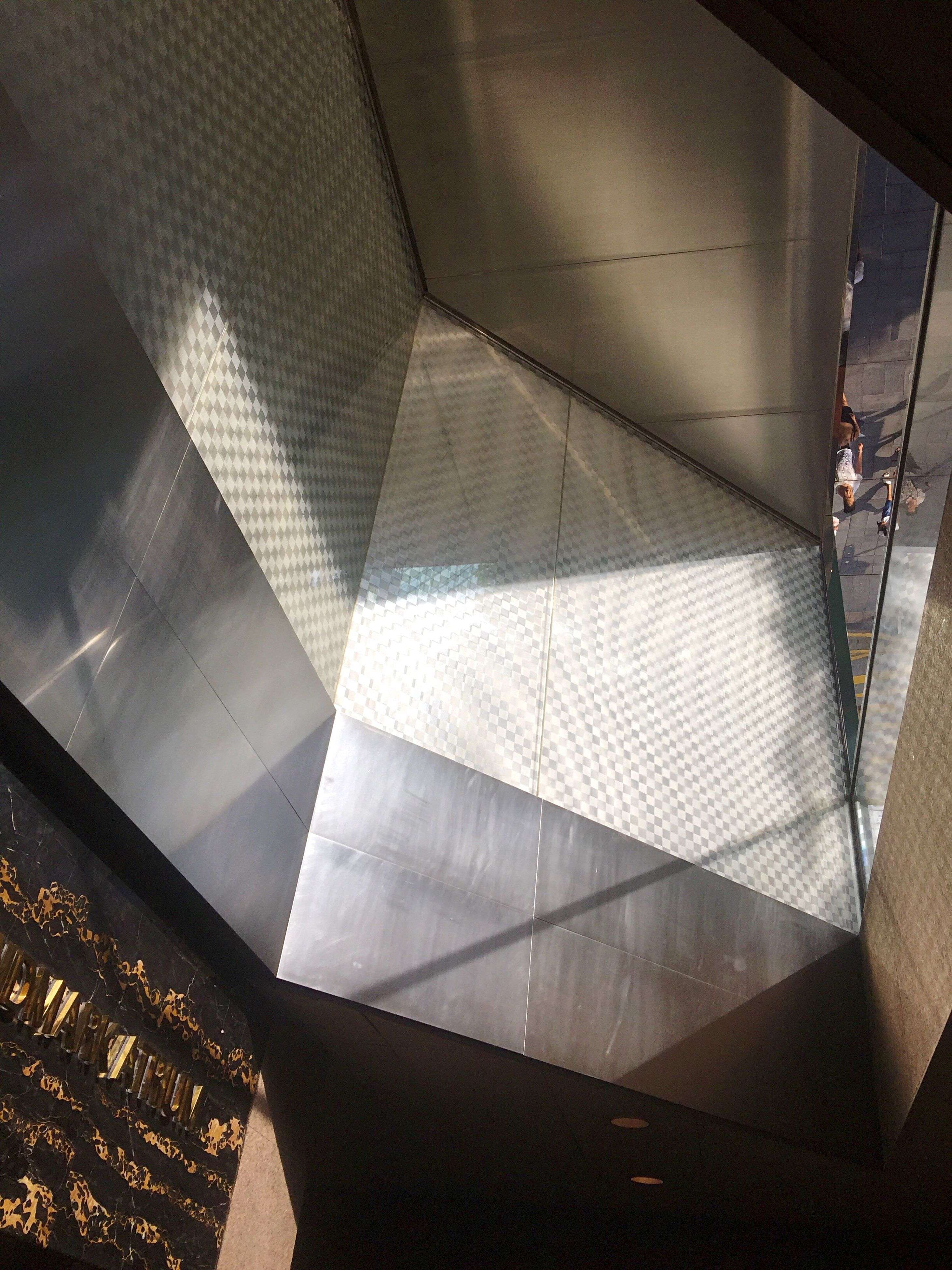 indoors, architecture, built structure, close-up, ceiling, geometric shape, architectural feature, no people, modern, angle, architectural design