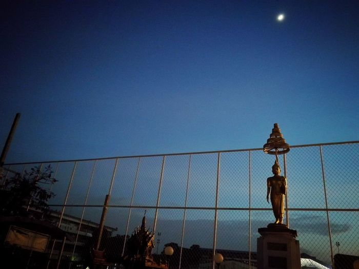 Beauty In Nature Clear Sky Sky Built Structure No People Buddha School Ayutthaya | Thailand HuaweiP9 Blue