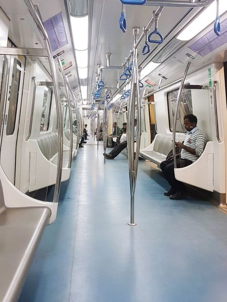 bangalore metro at night Transportation Railways Train - Vehicle Empty Train India Train Bangalore Chairs Travel City Life Urban Transportation Metro Namma Metro Indoors  Vehicle Seat Day