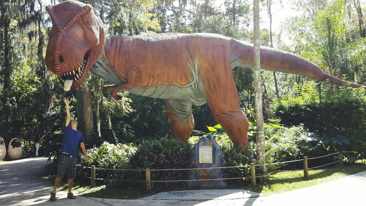 Just Me :) Check This Out! Dinosaur Extinct Outdoors Enjoying Life Dinosaur World Tampa, Florida Where Is My Hat?