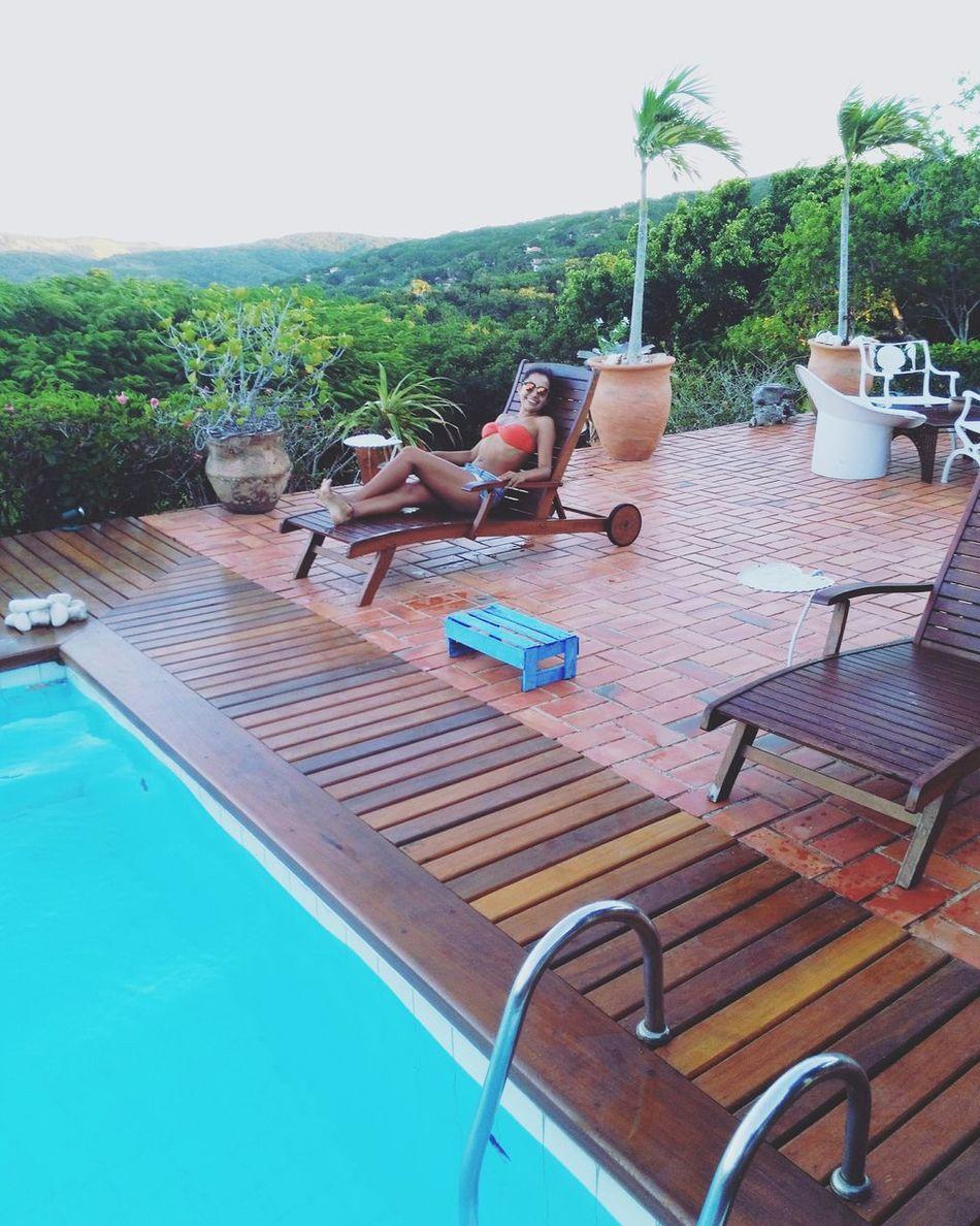 Swimming Pool Day Nature Relaxing Traveling Garota Summer