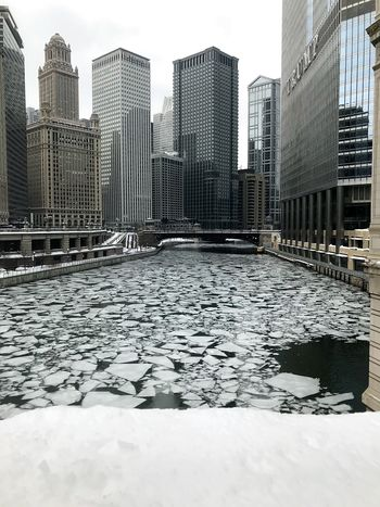 Icy city 🌃 Shades of Winter Architecture Skyscraper Building Exterior City Built Structure Modern Downtown District Urban Skyline Outdoors Cityscape Day No People Sky Travel Destinations