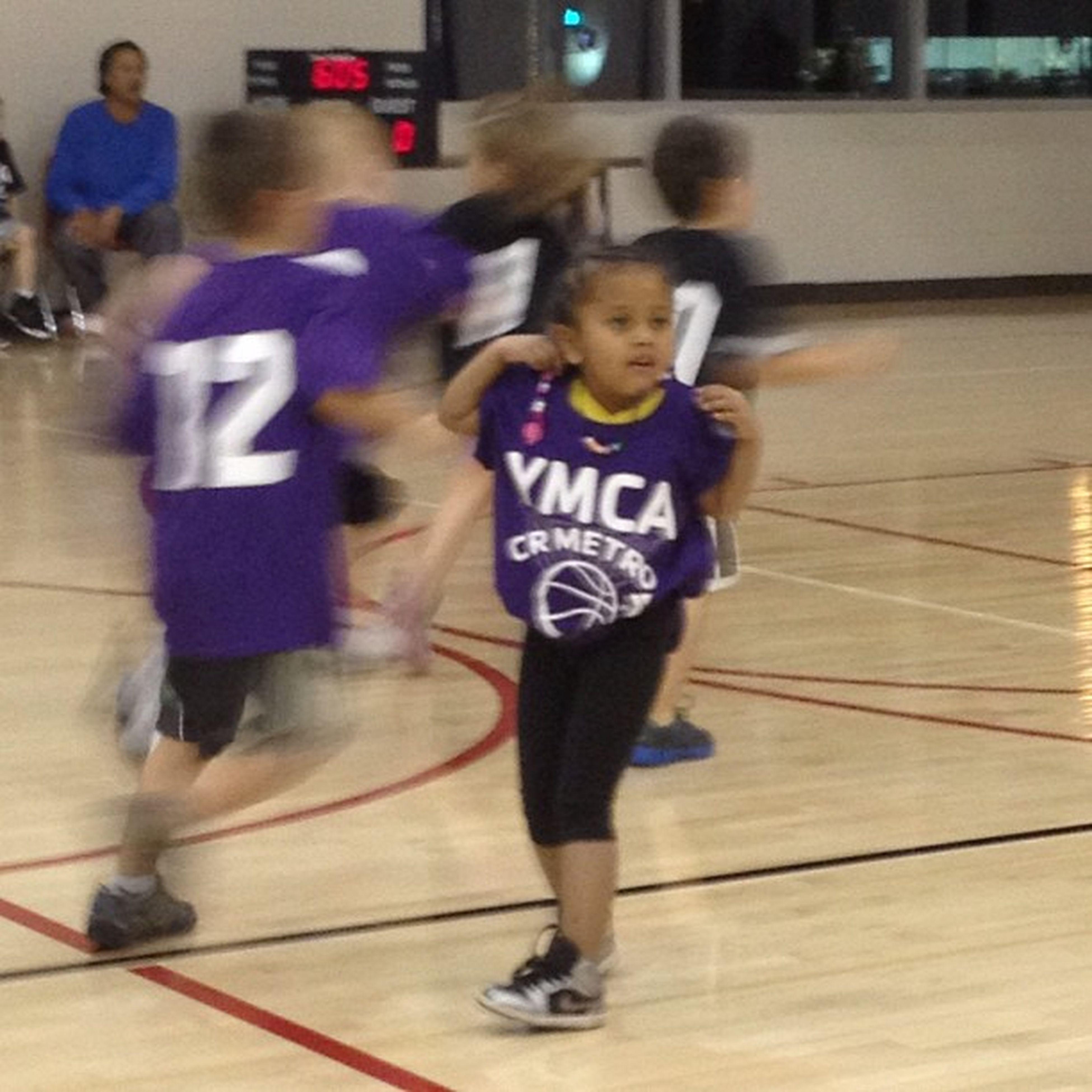 "My niece ""playing"" basketball. 8"