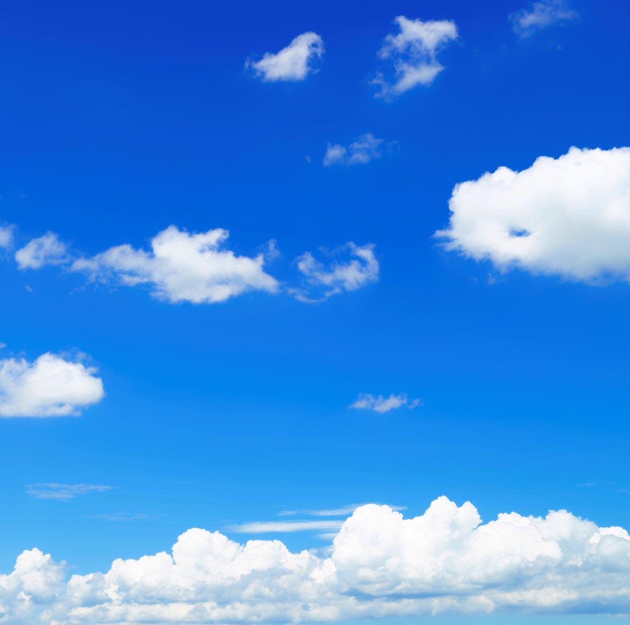 Summer sky seen from home. Blue Cloud - Sky Sky Nature Heaven Cumulus Cloud Tranquility Backgrounds Cloudscape Scenics Fluffy Low Angle View No People Beauty In Nature Sky Only Day Outdoors