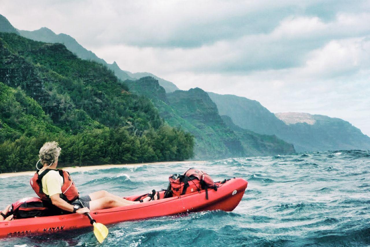 Freedom. Kayaking the Napali coast. Kauai, Hawaii. Hawaii On The Move Exploring New Ground Kayaking What I Value Edge Of The World Ocean Na Pali Coast Kauai Capture The Moment