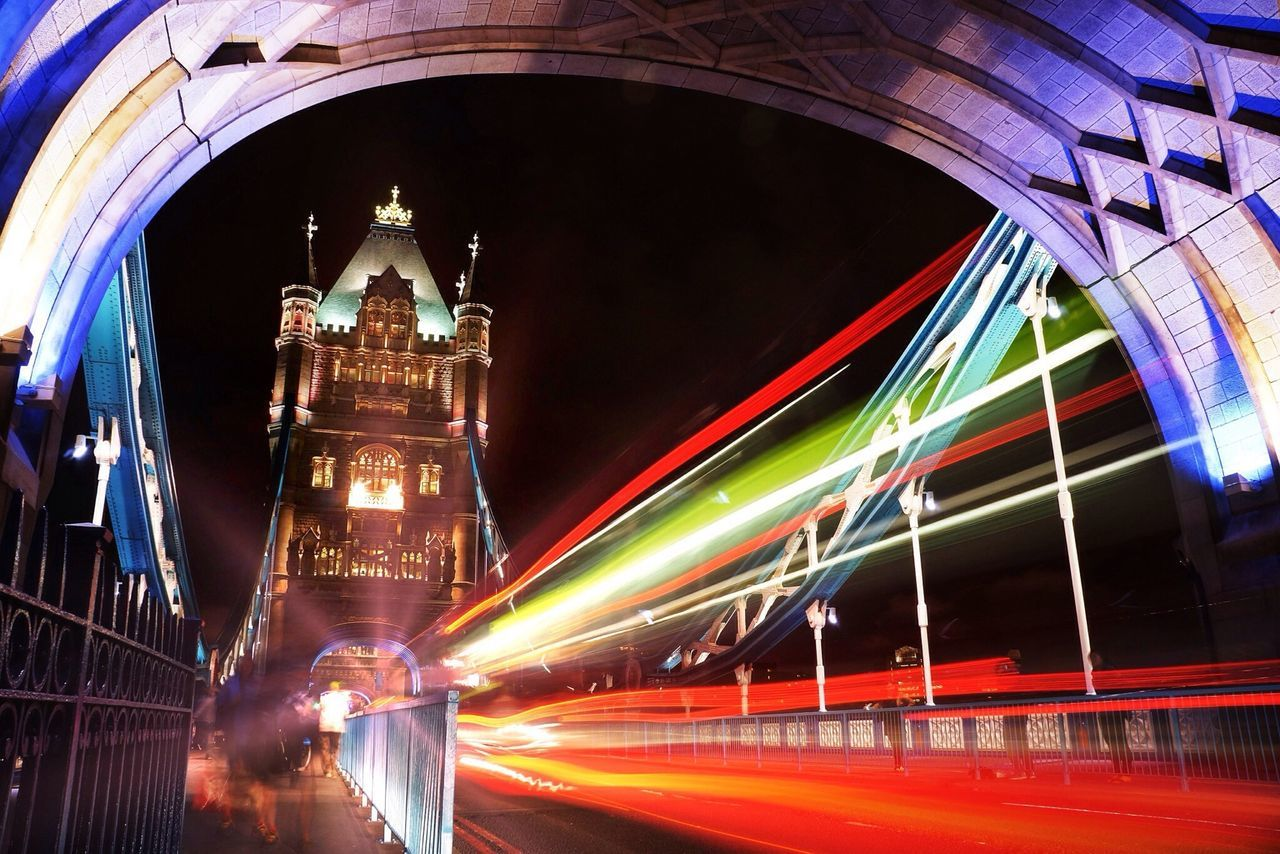 London Long Exposure City Night Londonbynight Motion Transportation Light Trail Speed Travel Destinations City Life Architecture Bridge - Man Made Structure Outdoors Building Exterior Tower Bridge  London Bus Travel Red Nightphotography Night Lights Illuminated Finding New Frontiers EyeEm Best Shots
