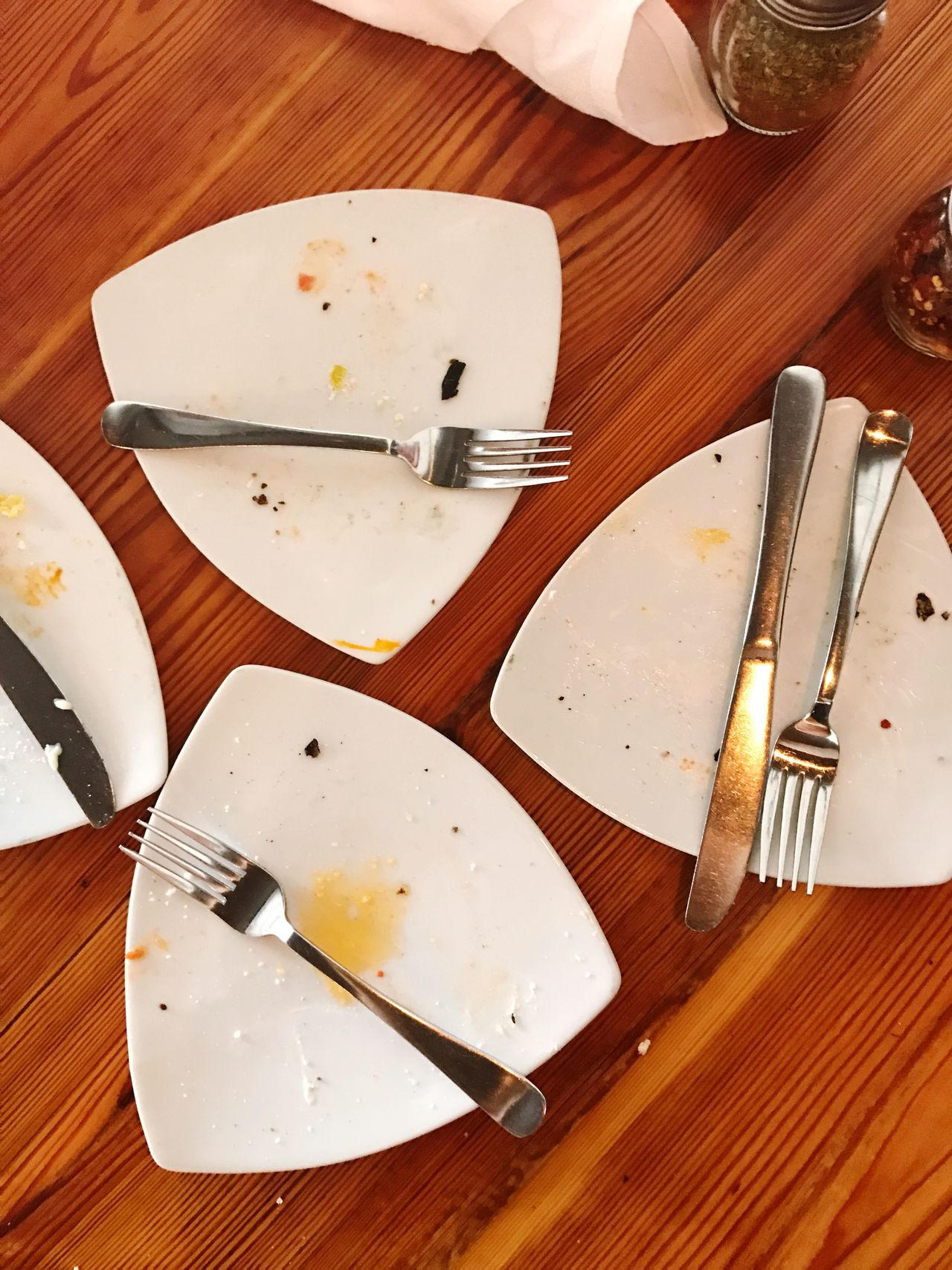 After a good meal. Fork Plate Table No People Indoors  Close-up Day Restaurant High Angle View Dining Food Food And Drink