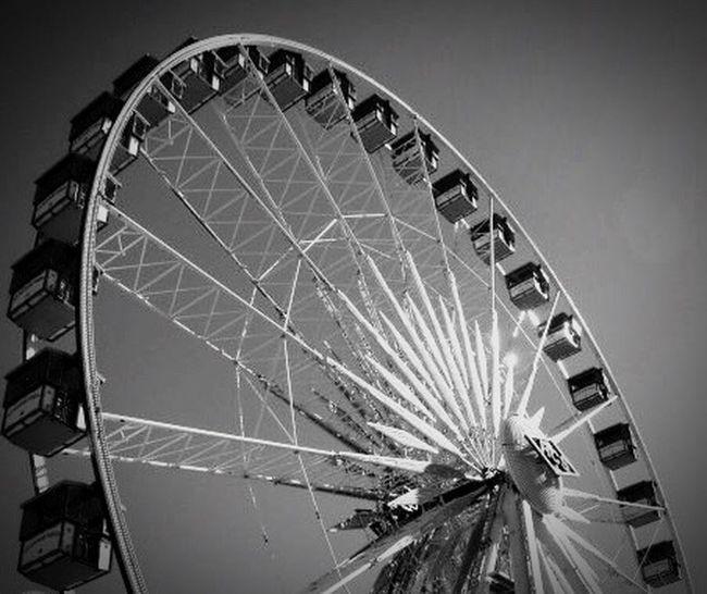 Arizona State Fair AZ State Fairgrounds Black & White Ferris Wheel Rides Classic Vintage Way Out West Phoenix, AZ Carnival Daytime Fall Time