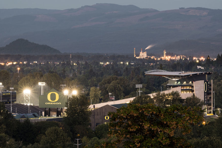 Autzen Stadium Foot Oregon Oregon Ducks Stad University
