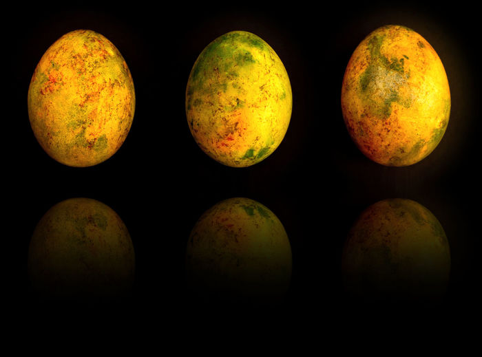 Black Background Colorful Dragon Eggs Easter Easter Egg Easter Eggs Food Freshness Game Of Thrones Hovering Eggs No People Orange Color Studio Shot Yellow