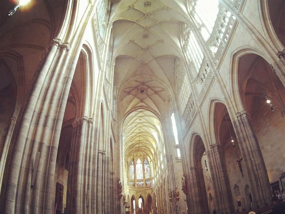 Prague Czech Republic Architecture Religion St Vitus Cathedra History Indoors  Architectural Column