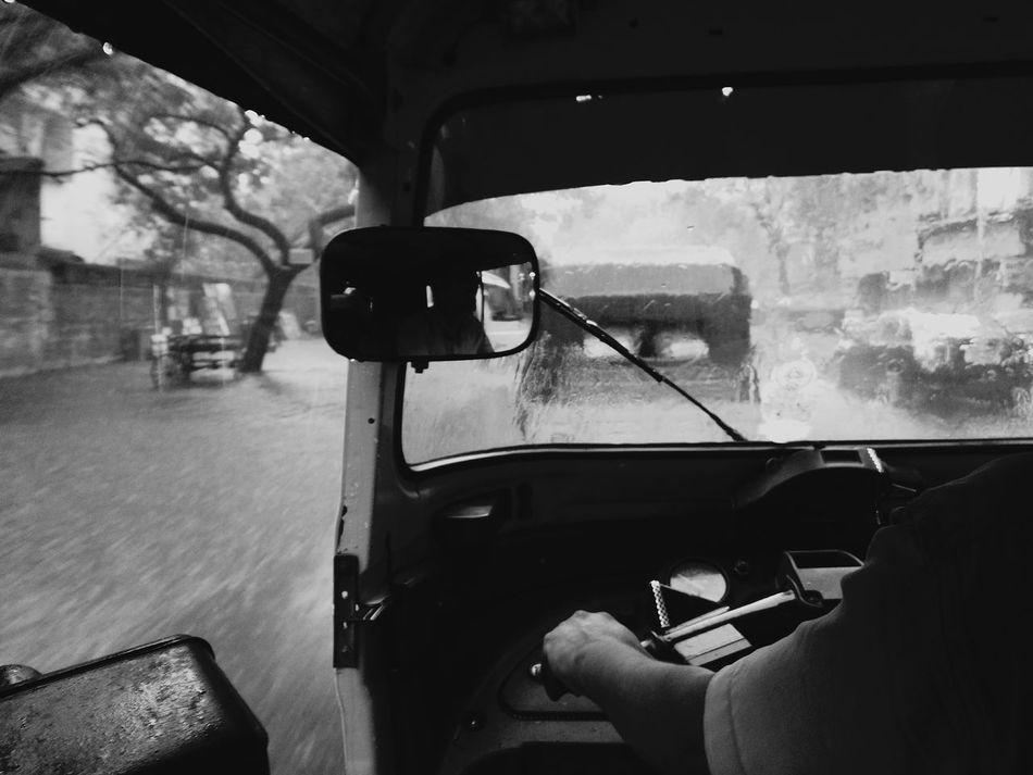 Adventure Club Mobilephotography Rainy Days☔ Flooded Road Chennairains Autorickshaw Adventure Ride