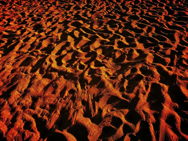 Life on mars Beach Sand Mars Martian  Martian Landscape EyeEm Selects Full Frame Backgrounds Pattern No People Outdoors Illuminated Night Close-up