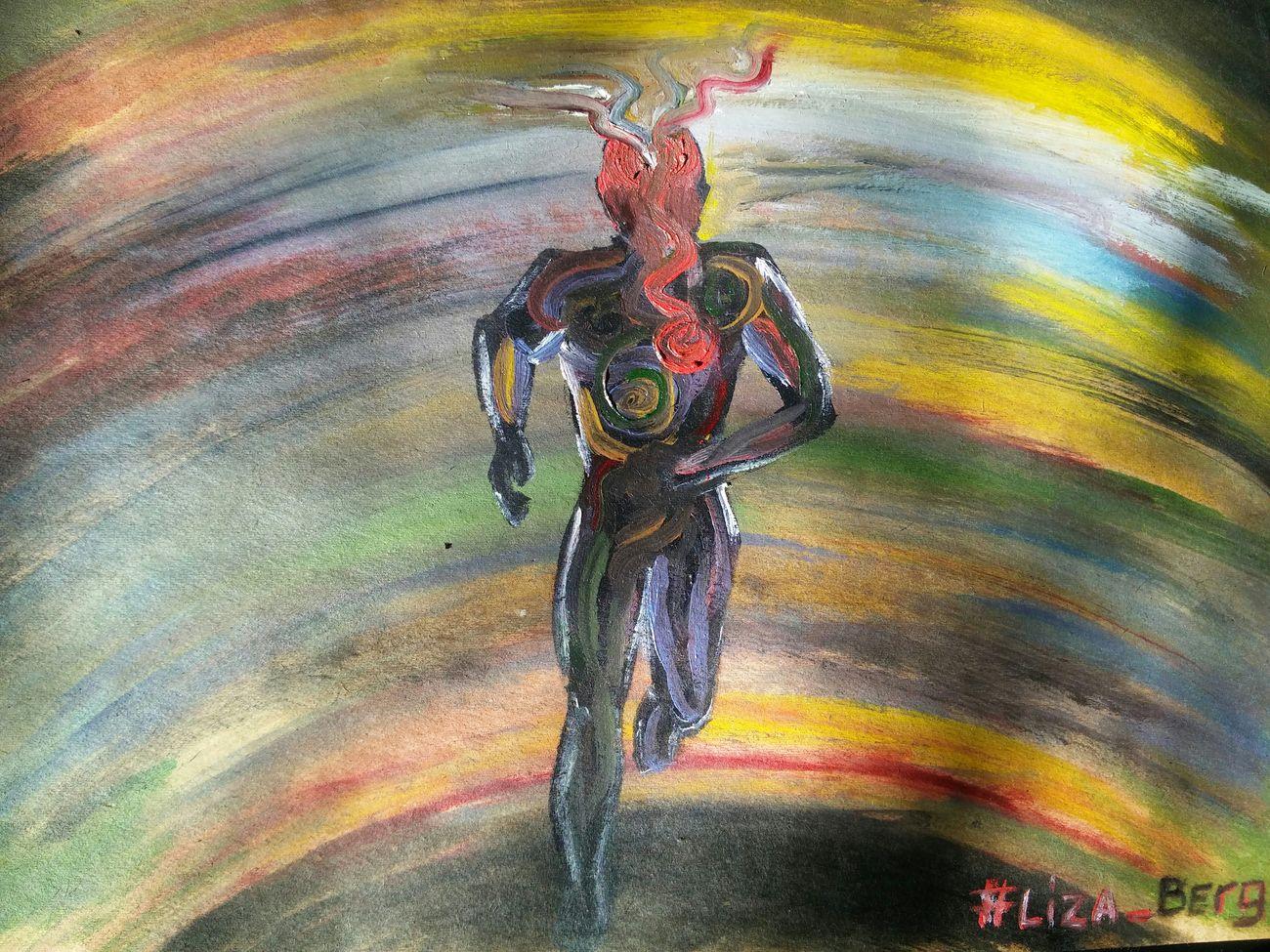 """""""побег"""". Очень быстро и на одном дыхании нарисовалась ситуация, в которой я нахожусь. Побег от собственных чувств и мыслей. рисунок рисую ArtWork Artistic Art, Drawing, Creativity . Liza_berg Liza_berg_art Colorful Colors Enjoying Life"""