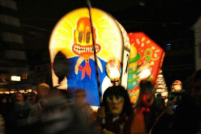 Basler Fasnacht Morgestraich Laternen Carnival Midnight Mask Basel Switzerland