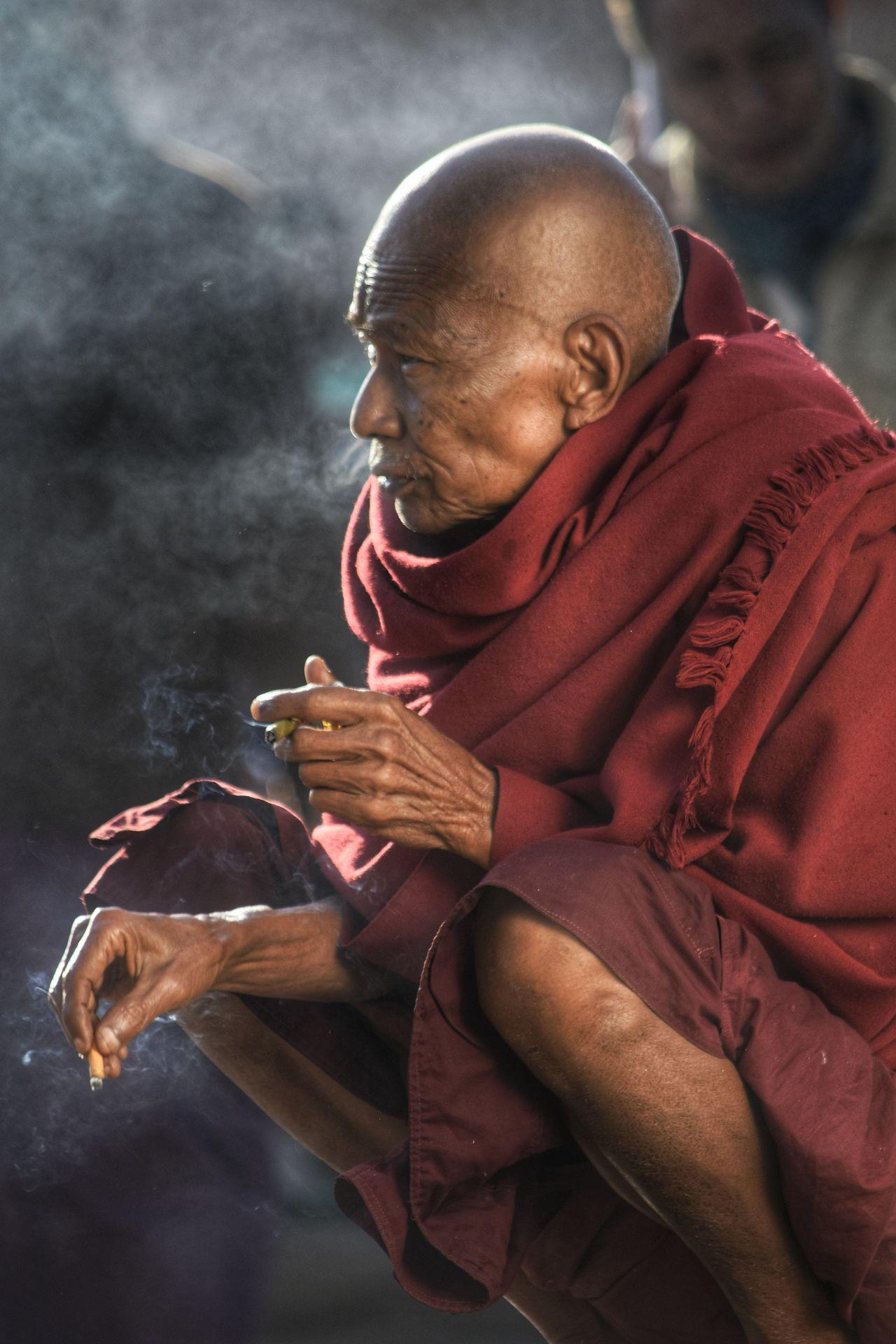 The Street Photographer - 2017 EyeEm Awards Burma Monk  Chainsmoker EyeEmNewHere Bagan, Myanmar Buddhist Monks Buddhism