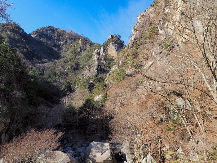 Shousenkyo gorge Yamanashi,japan Yamanashi National Park Shousenkyou Nature Tranquility Tranquil Scene Beauty In Nature Rock Formation Rock - Object Non-urban Scene Mountain No People Outdoors Scenics Landscape Day Tree Sky