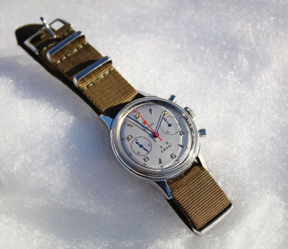 Seagull 1963 Watch Snow Wristwatch Watches Watchporn Ticking Winter Seagull 1963