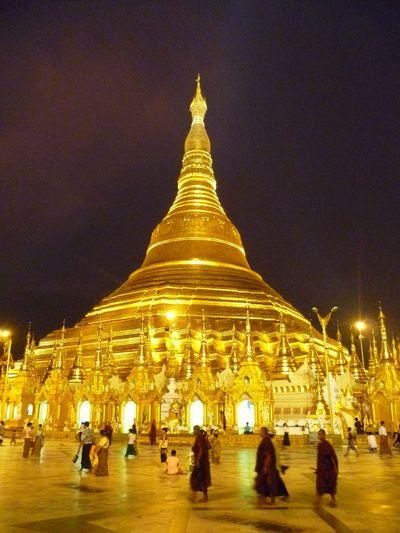 Gold Temple Pagoda Travelling Yangon, Myanmar Architecture Awe Inspiring Buddhism Buddhist Temple Burma Golden Pagoda Monks Myanmar Place Of Worship Religion Schwedagon Pagoda Spirituality