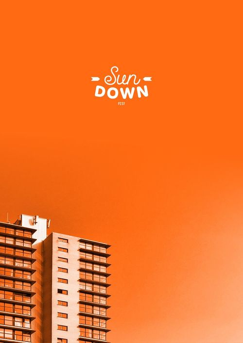 Sun Down. P237 Onephotoaday IPhoneography Architecture Architecture_collection Architectural Detail Building Buildings & Sky Orange Orange Color Amsterdam Lookingup Streetphotography Walking Around Sunset Apartment Typography Sun Down
