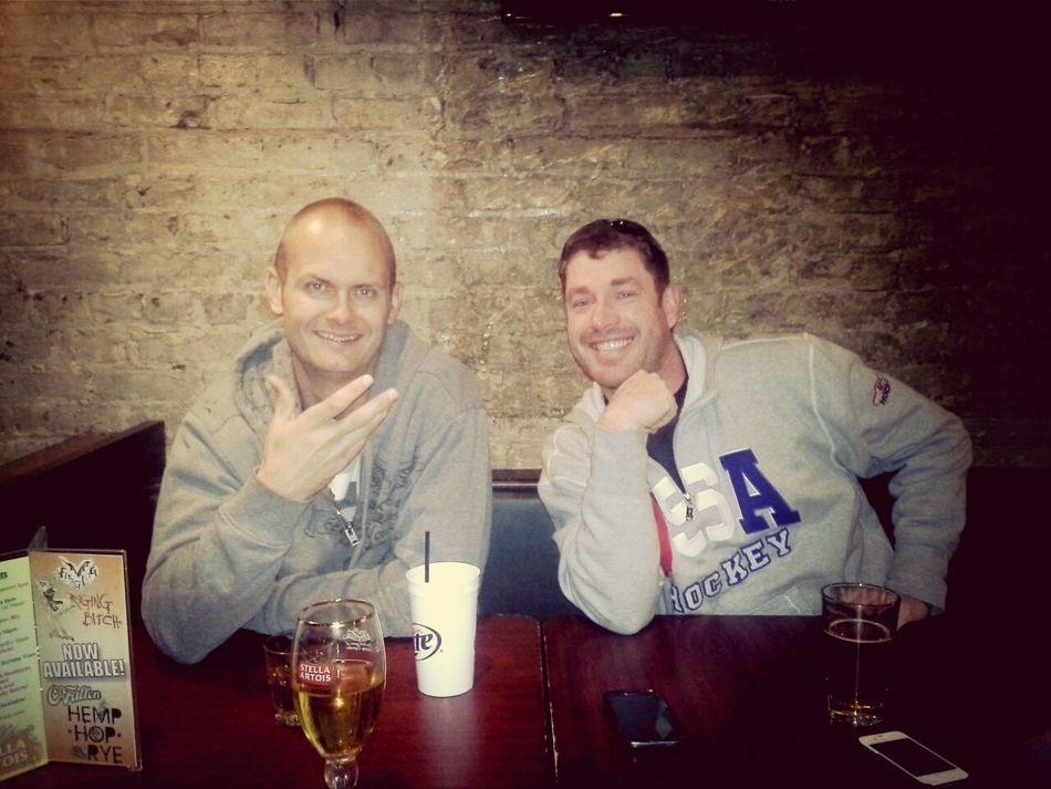 Bro meets the boyfriend...going good Beer