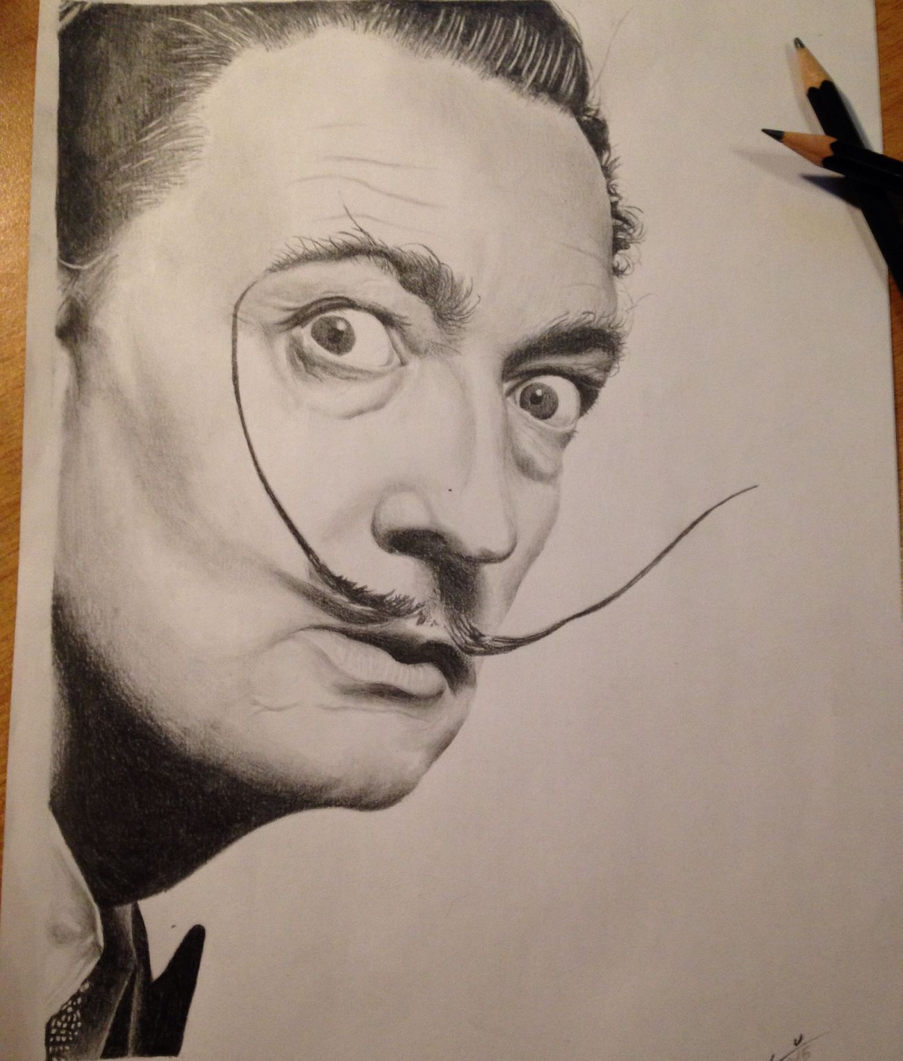 Salvador Dali Dalí Graffite Realisticdrawing Blackandgrey Realistic Blackandgray Drawing Draw