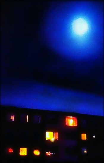 Colorful ArtWork Illuminated Night Airport No People Indoors  Sky Night Photography Architecture Building Exterior Blue Edited Artistic Expression ArtED